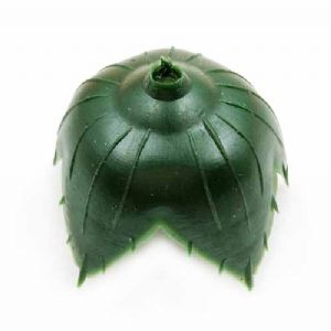 Rose Flower holder, Plastic, Dark green, 3.5cm x 3.5cm x 3cm [approximate], 15 pieces, [ST1051]